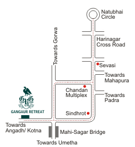 Route Map to Gangaur Retreat